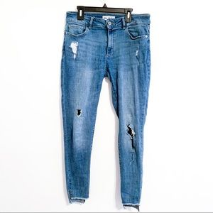 DL1961 Cropped Distressed Jeans